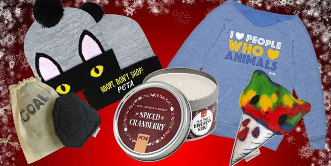 Exclusive Sneak Peek: Check Out PETA's Stocking Stuffers!